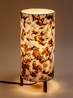 172: Minimalist lamp with photo lampshade with image of melting snow.