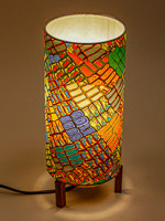 173: Minimalist lamp with colorful polymer clay design